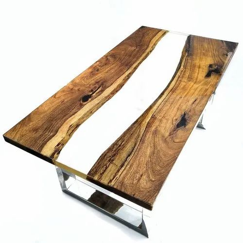 Epoxy Resin Coffee Table ड ज इनर क फ ट बल