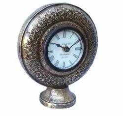 Designer Handmade Metal Analog Table Clock