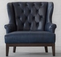 Vintage Love Seat Tufted Leather Chair, Leather Furniture