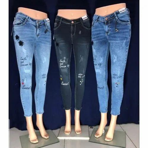 Denim Regular Fit Girls Fancy Party Wear Jeans, Waist Size: 28 to 34, Rs  425 /piece   ID: 21757379588