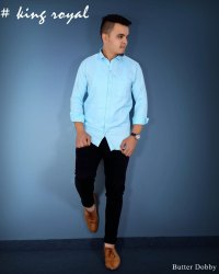 Plain 100% Cotton Dobby Shirt