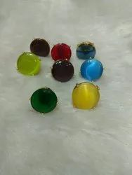 Colour Stone Stud Earring