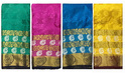 Wedding Wear Peacock Silk Golden Zari Work Saree