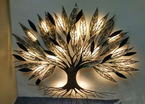 Metal Led Tree Wall Decor Rs 1 Piece Awesome Art And Craft Id