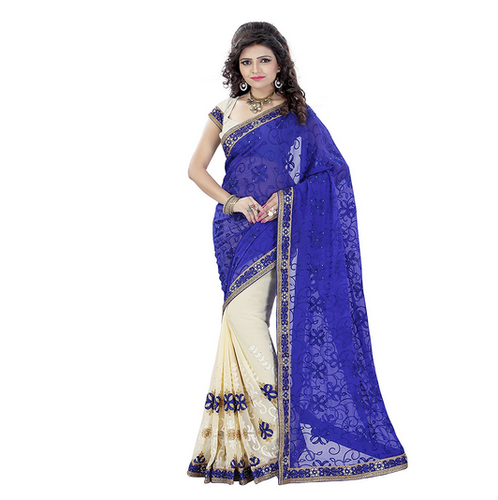 4139922ec4 Party Wear New Designer Embroidered Georgette Saree, Rs 1049 /piece ...
