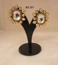 Stylish Ladies Wear American Diamond Studs