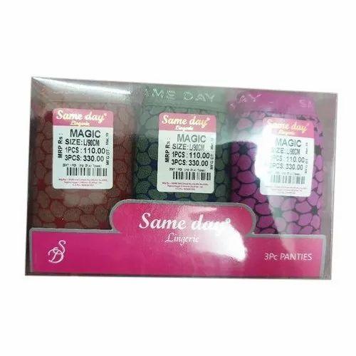 Same Day Ladies Printed Panties, Size: L/90cm, Packaging Type: Box