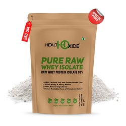 Healthoxide Pure Raw Whey Protein Isolate 90%  250 g, Packaging Type: Pouch
