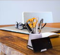 4 Port USB Hub With Pen Stand and Mobile Holder