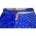 Ladies Bandhej Silk Unstitched Suit