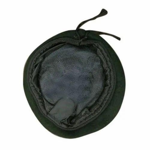 Green Round Beret Cap