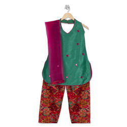 Chanderi Party And Festive Wear Girl Salwar Suit
