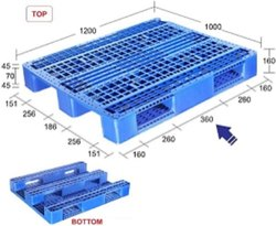 Supreme Plastic Pallet SIM1280145 PDSS