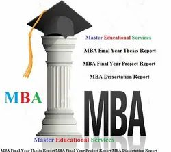 MBA Final Year Project Report Service Provider For Amity University In  India