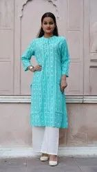 Cotton Printed A-Line Palazzo Suit