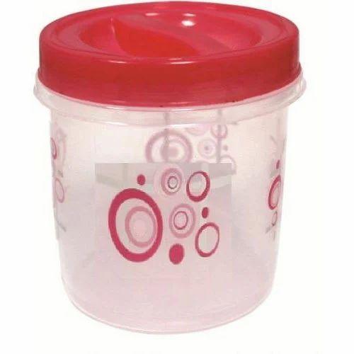 Round Plastic Storage Container, Capacity: 175 Ml