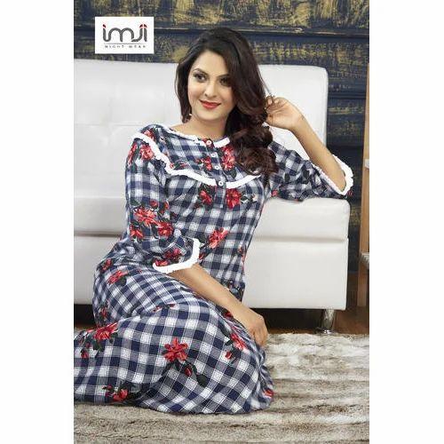1f679ca953 Ladies Cotton Printed Designer Nightgown, Rs 1499 /piece, IMJI ...