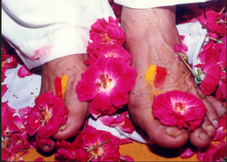 Papaji Feet With Flowers Books