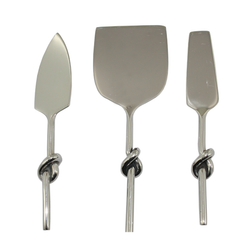 Polished Stainless Steel Cheese Set