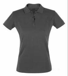 Half Sleeve Polo Ladies Cotton Collar T-Shirt