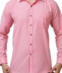 Silk Pink Formal Shirts