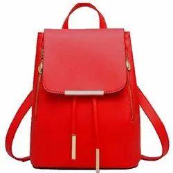 Pu Plain Girls College Bag