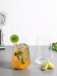 Transparent Crystal Water Glass, For Restaurant, Capacity: 440ml