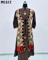 Jacket Style Rayon Kurti