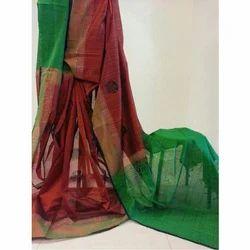 Silk Wedding Wear Combination Saree, 5.5 M