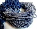 Iolite Rondelle Faceted Beads