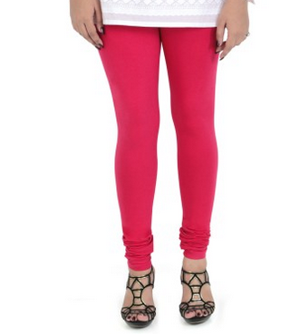 ad72e035e53ee Womens Cotton Churidar Leggings In Pink Shades, Size: Free Size, Rs ...
