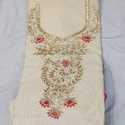 Cream White Jaipur Dress Material