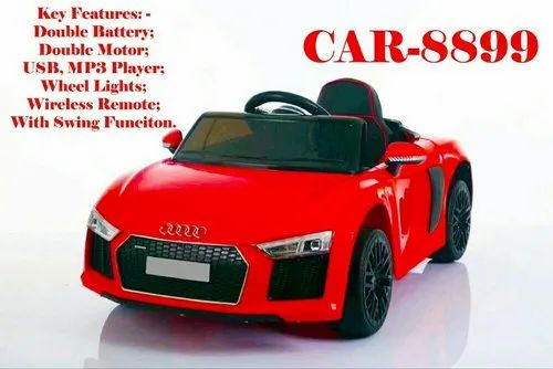 Red Battery Operated Ride On Audi Car for Kids, Vehicle Model: Audi R5