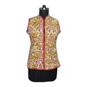 Cotton Sleeveless Ladies Quilted Jacket