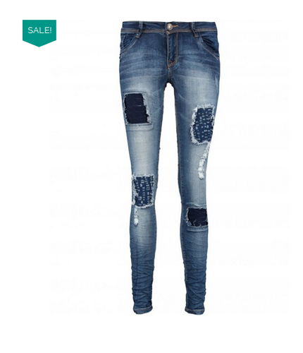 Blue Ripped Jeans Women 65739cfd2d
