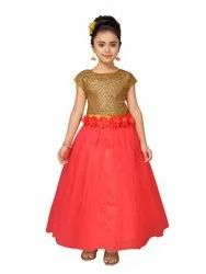 Net Stitch Adiva Sequence Girls Gajri Party Wear Gowns, Size: 22 To 36