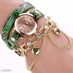 Girl Round Wrist Watches, for Personal Use