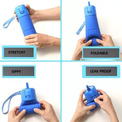 Thirst Quencer Silicone Kids Water Bottle, Capacity: 680 Ml, for Water Storage