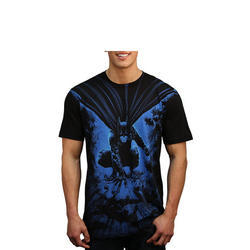 Cotton Round Men's Fancy T-Shirt