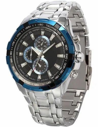 e5c2487201d0 Gents Silver - Blue Chronograph Watches