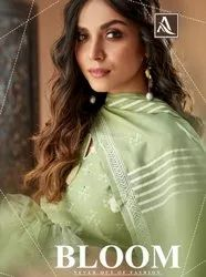 Cotton ALOK SUIT BLOOM CAMBRIC PRINTED COLORFUL DRESS COLLECTION