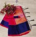 Colorful Satin Polyester Saree