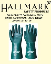 Midas Green PVC Double Dipped With Jersey Liner