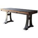 Strong Dark Brown Dining Table Industrial Furniture