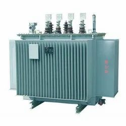 MS Body Three Phase 100 KVA Step Down Electrical Power Transformer, For Industrial