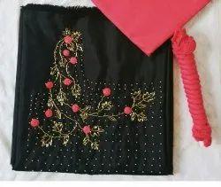 Black Rose Churidar Material
