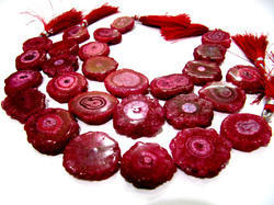 Ruby Solar Quartz Beads Size 20-25mm Beads