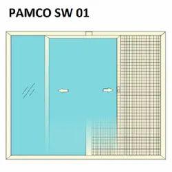 UPVC Single Track Mono Rail Sliding Window
