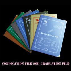 Cardboard Convocation Certificate File Folder
