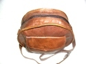 Round Cross Body Leather Bag